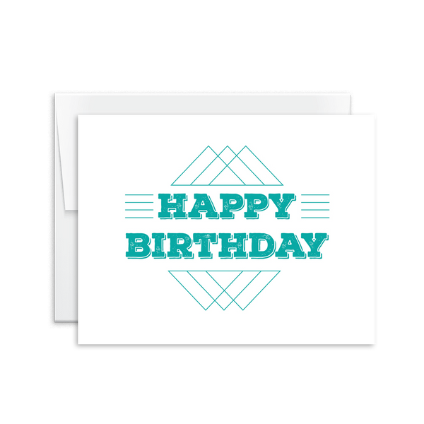 Happy Birthday (Triangles) Card [product type] - Hello Happiness Card Co