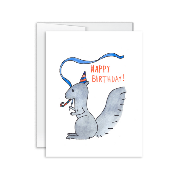 Happy Birthday (Squirrel) Card [product type] - Hello Happiness Card Co