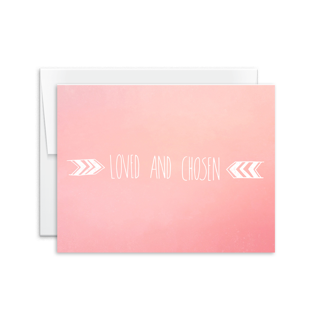 Loved and Chosen Card [product type] - Hello Happiness Card Co