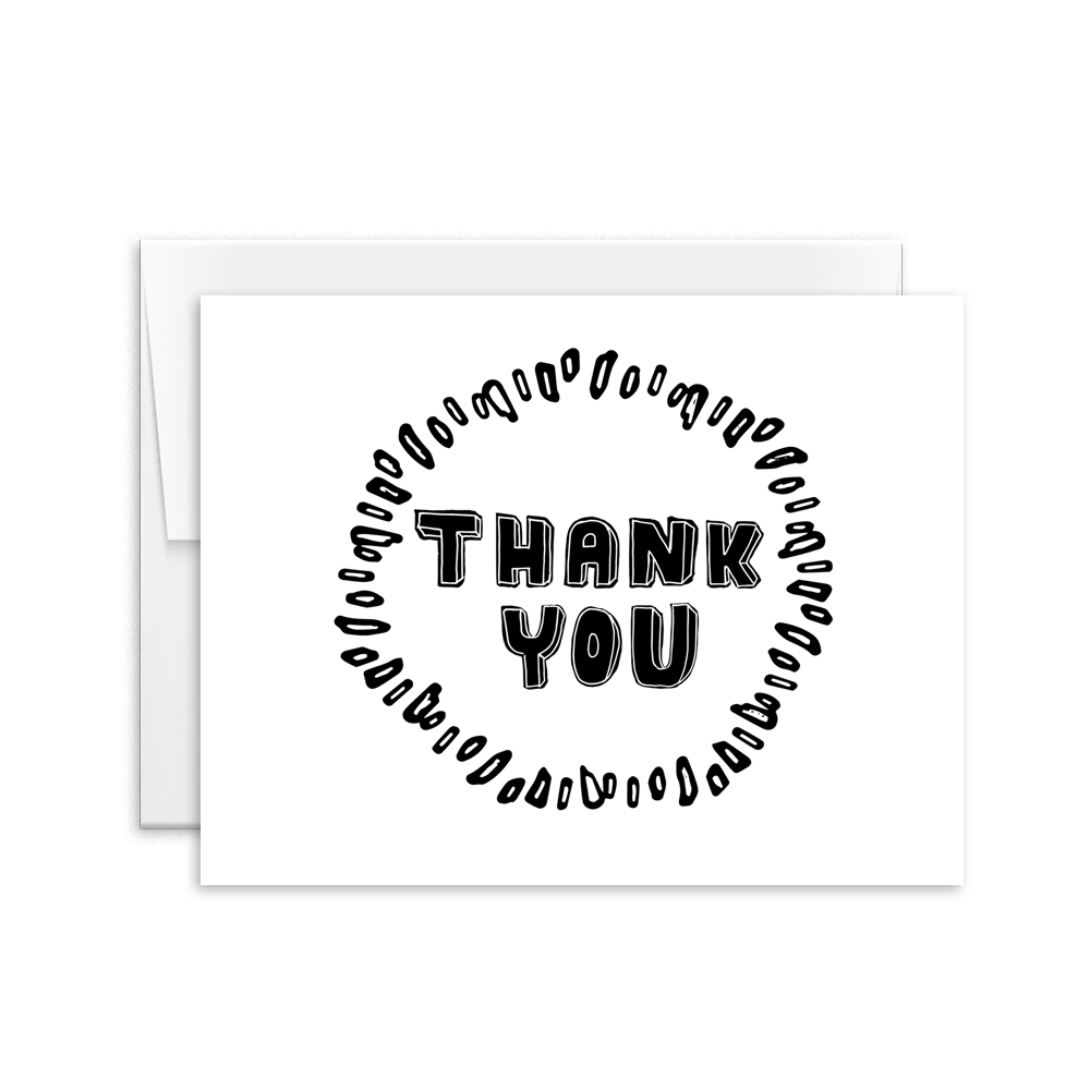Thank You (Hand Lettered) Card [product type] - Hello Happiness Card Co