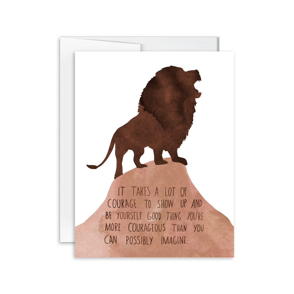 Courageous Lion Card [product type] - Hello Happiness Card Co
