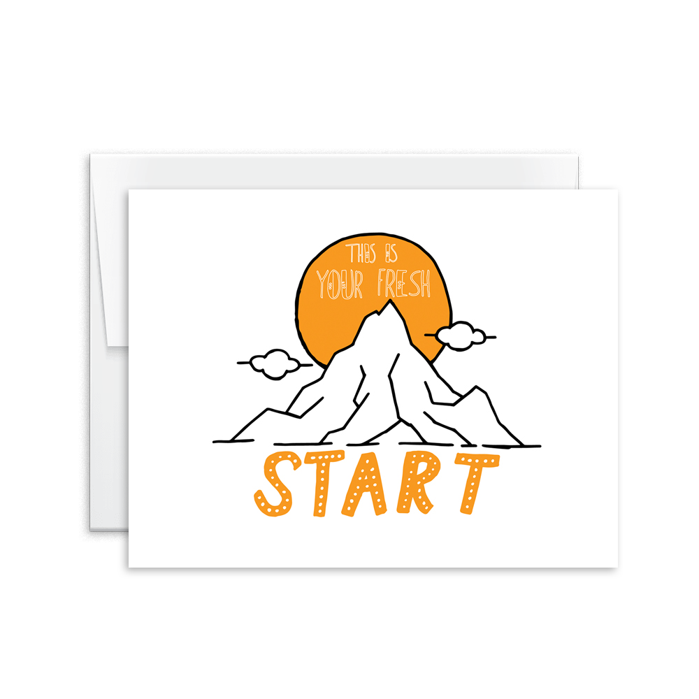 This Is Your Fresh Start Card [product type] - Hello Happiness Card Co