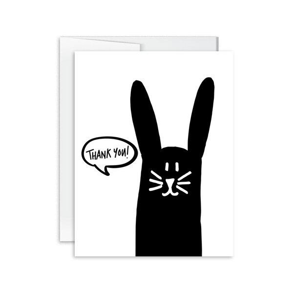 Thank You (Bunny) Card [product type] - Hello Happiness Card Co