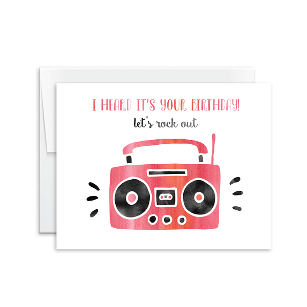 Let's Rock Out Birthday Card [product type] - Hello Happiness Card Co