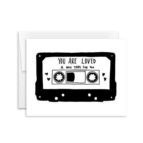You Are Loved (Mix Tape) Card [product type] - Hello Happiness Card Co