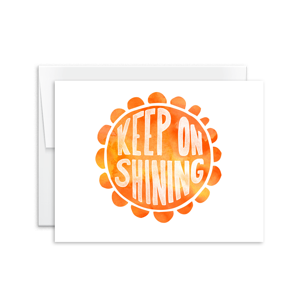 Keep On Shining (Sun) Card [product type] - Hello Happiness Card Co