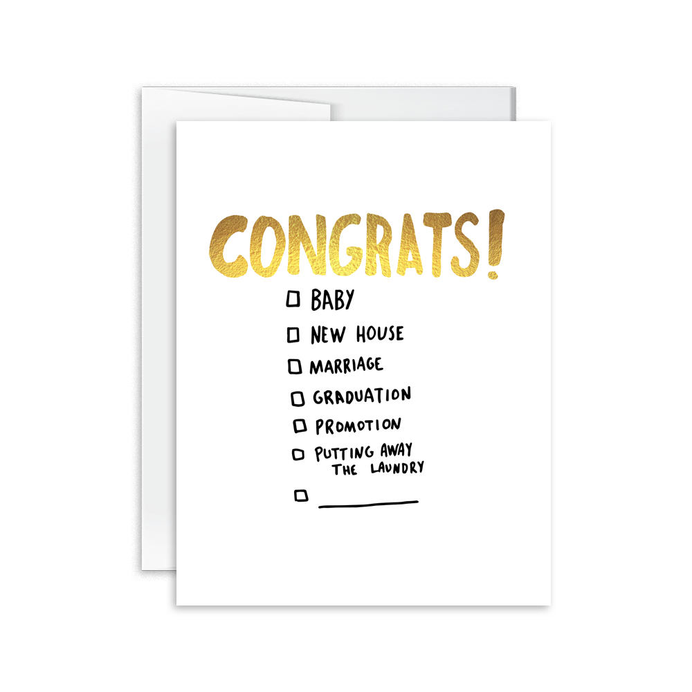 Congrats (Multiple Choice) Card [product type] - Hello Happiness Card Co