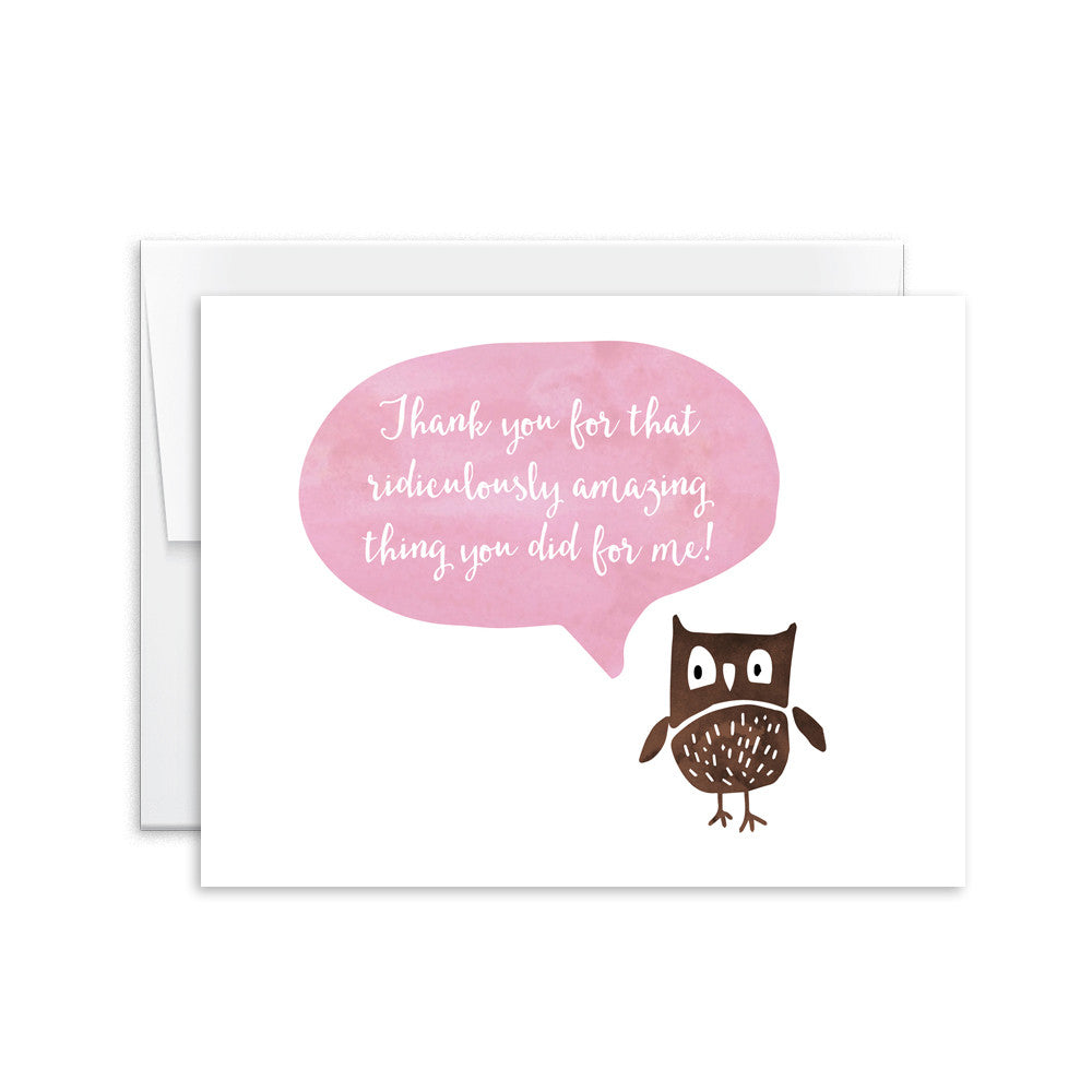Thank You (Owl) Card [product type] - Hello Happiness Card Co