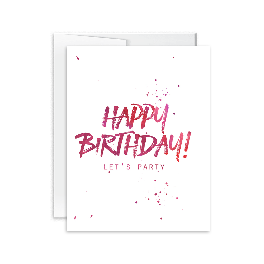 Happy Birthday Let's Party Card [product type] - Hello Happiness Card Co