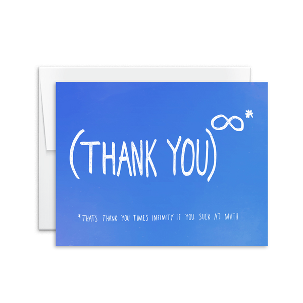 Thank You (Infinity) Card [product type] - Hello Happiness Card Co