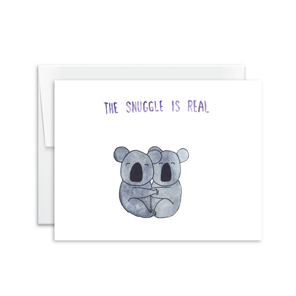 The Snuggle is Real Card [product type] - Hello Happiness Card Co