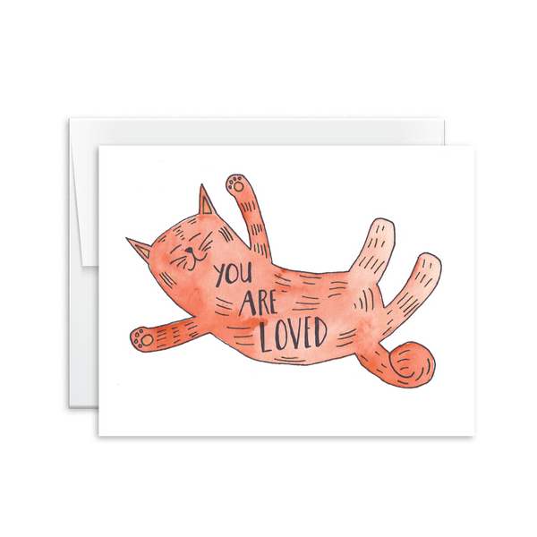 You Are Loved (Cat) Card [product type] - Hello Happiness Card Co