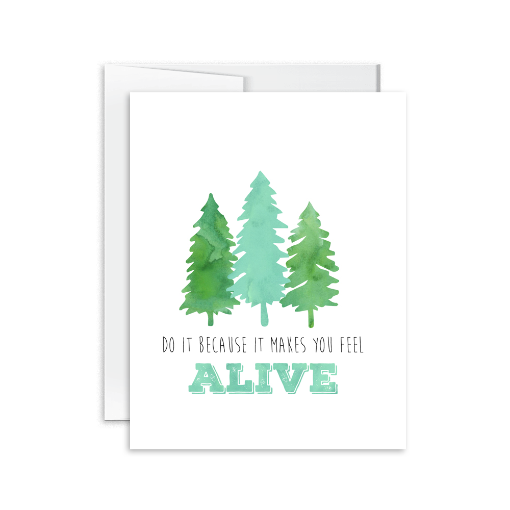 Feel Alive Card [product type] - Hello Happiness Card Co
