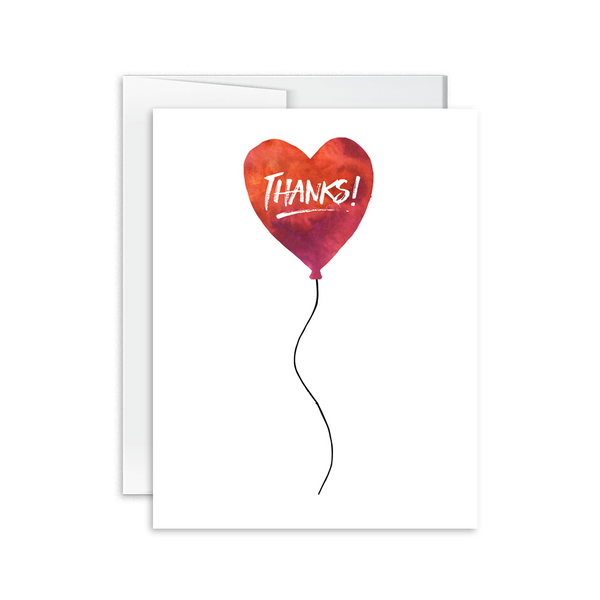 Thanks (Balloon) Card [product type] - Hello Happiness Card Co