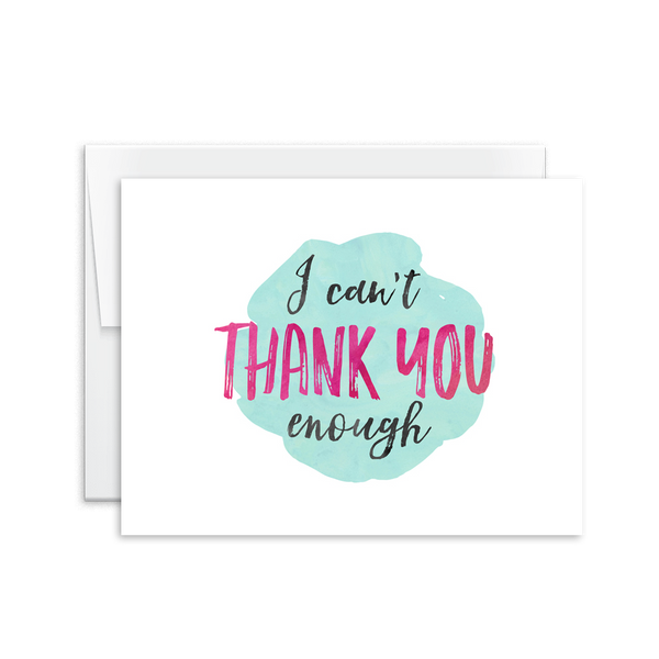Can't Thank You Enough Card [product type] - Hello Happiness Card Co