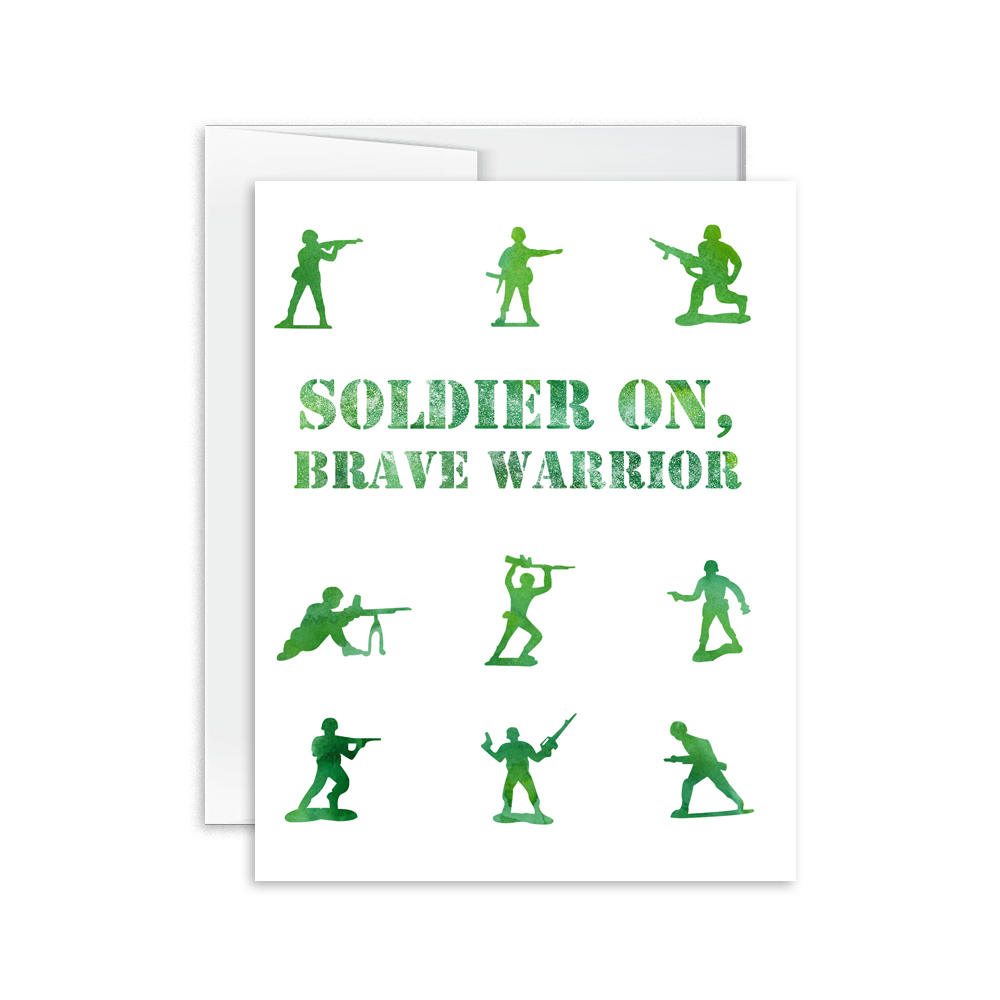 Brave Warrior Soldier Card [product type] - Hello Happiness Card Co