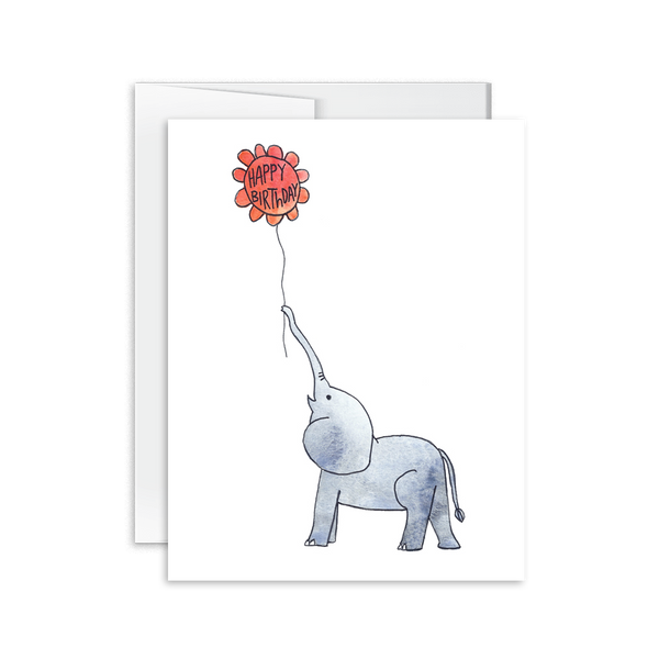 Happy Birthday (Elephant) Card [product type] - Hello Happiness Card Co