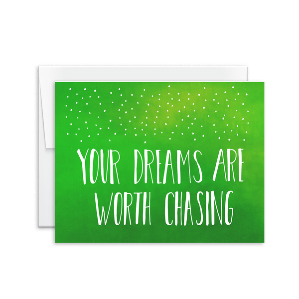 Dreams Are Worth Chasing Card [product type] - Hello Happiness Card Co
