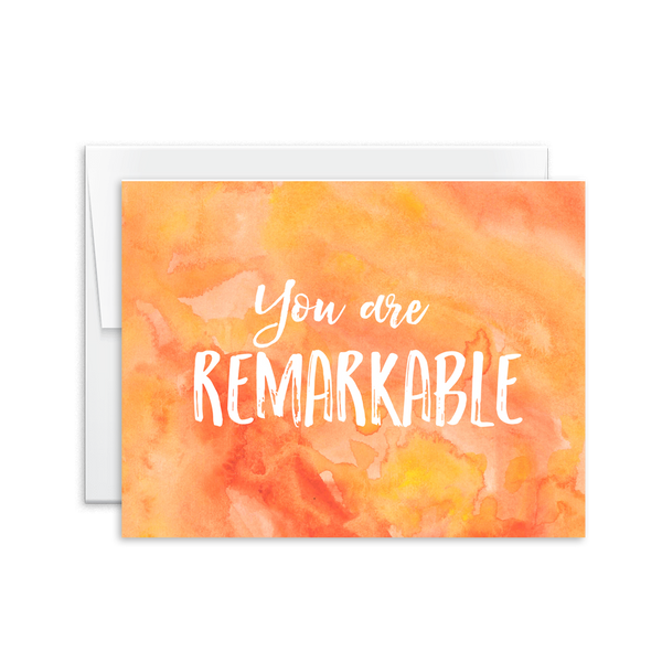 You Are Remarkable Card [product type] - Hello Happiness Card Co