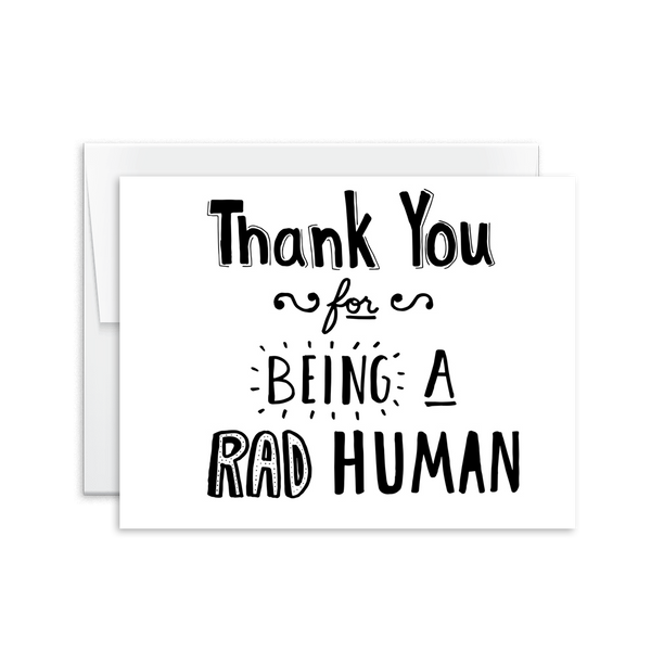 Thank You For Being a Rad Human Card [product type] - Hello Happiness Card Co