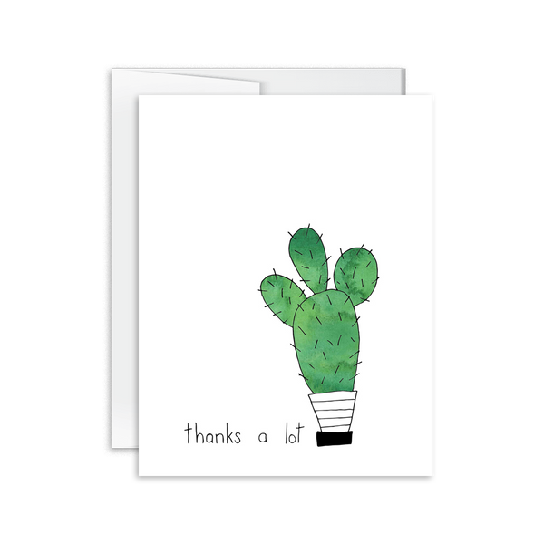 Thanks a Lot Cactus Card [product type] - Hello Happiness Card Co