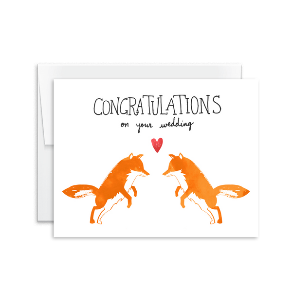 Congratulations on Your Wedding Fox Card [product type] - Hello Happiness Card Co