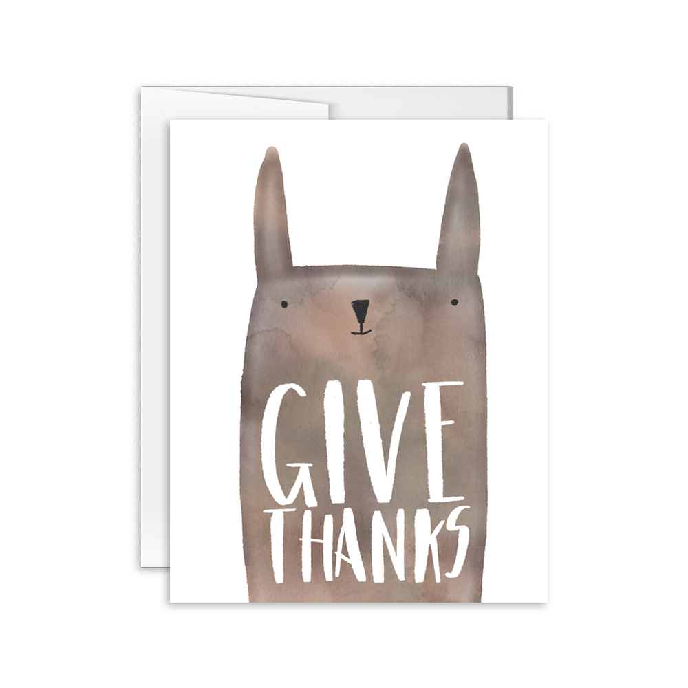 Give Thanks Animal Card Hello Happiness Card Co