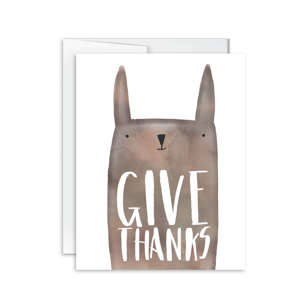 give thanks cute animal greeting card