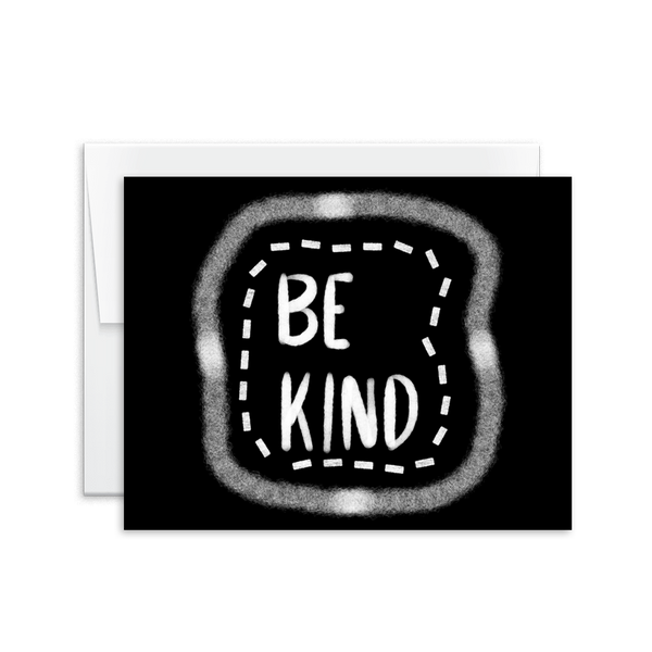 be kind hand lettered chalk card