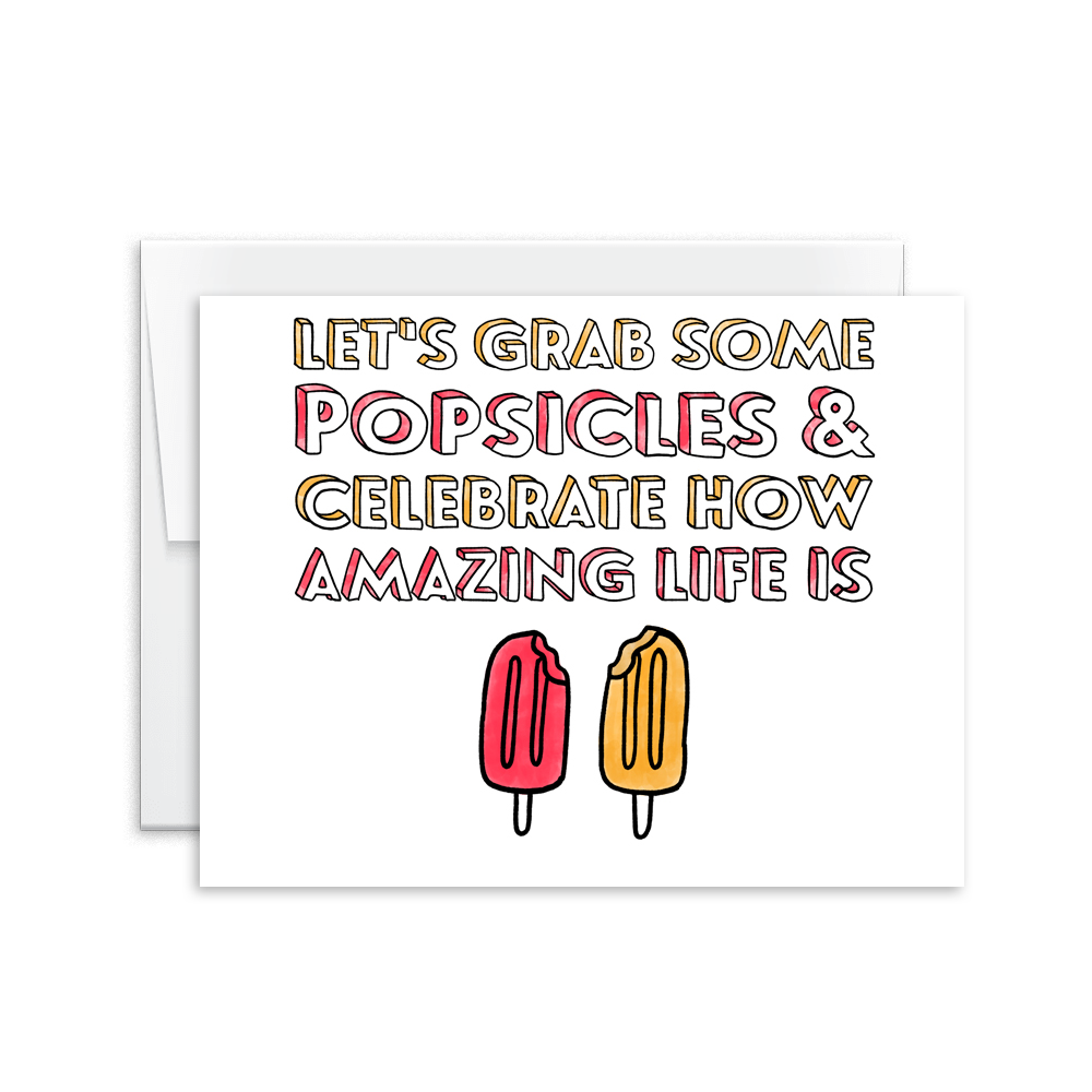 watercolor popsicle life is amazing celebrate greeting card