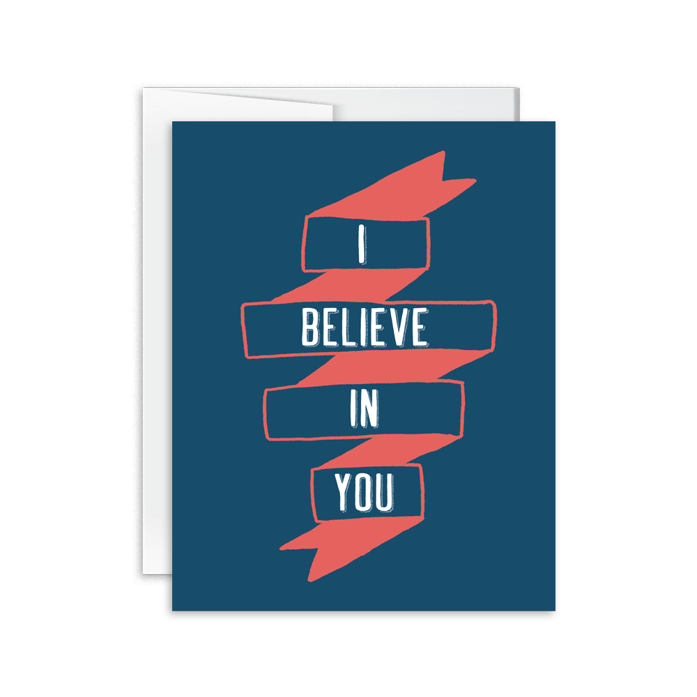i believe in you banner hand lettered encouragement card