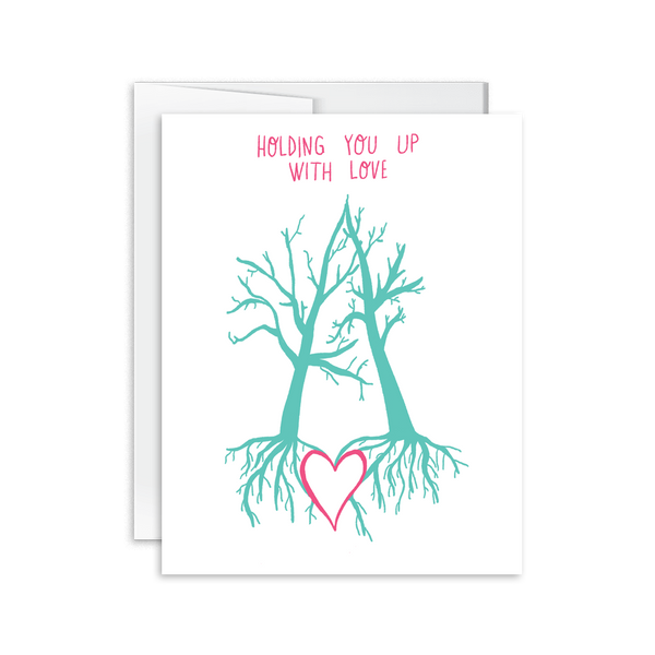 holding you up with love greeting card