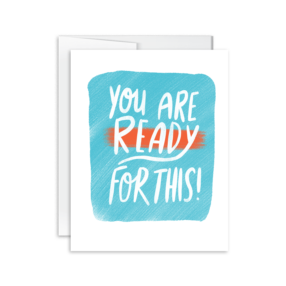 you are ready for this hand lettered greeting card