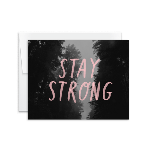 stay strong hand lettered greeting card for encouragement