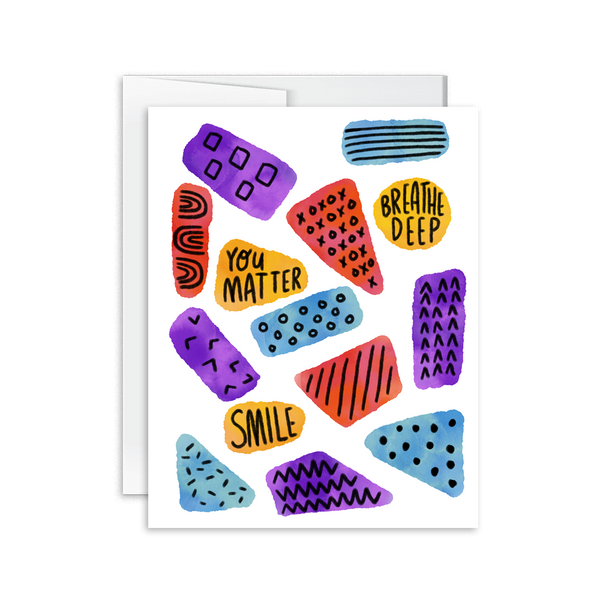 you matter breathe deep smile doodle greeting card