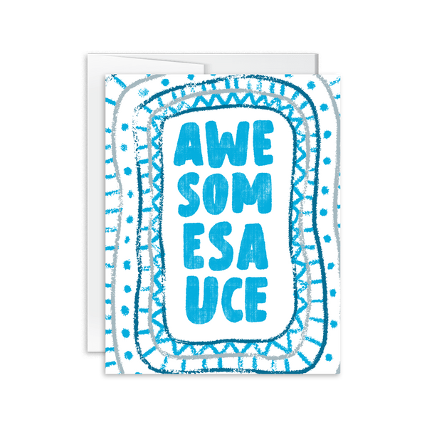 hand lettered awesomesauce greeting card