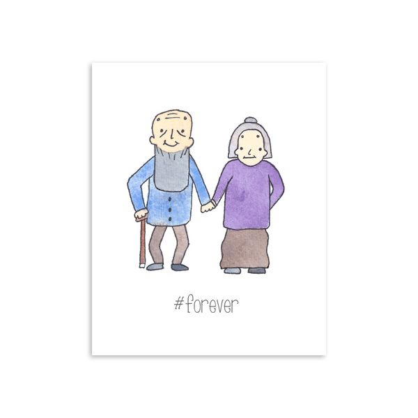 #Forever 8x10 Art Print [product type] - Hello Happiness Card Co