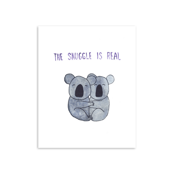 The Snuggle is Real Koalas 8x10 Art Print [product type] - Hello Happiness Card Co