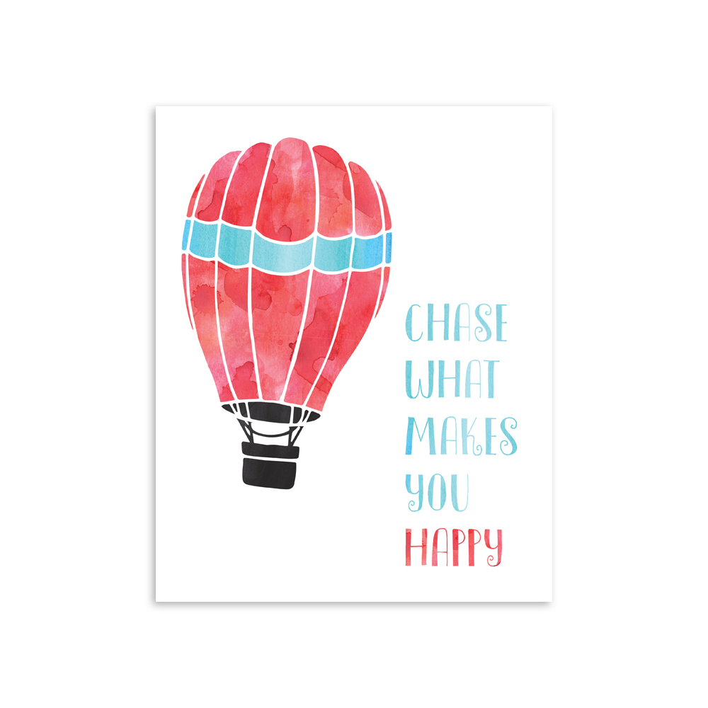 Chase What Makes You Happy 8x10 Art Print [product type] - Hello Happiness Card Co
