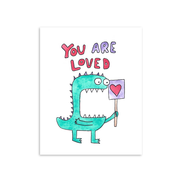 You Are Loved Hugo Monster 8x10 Art Print [product type] - Hello Happiness Card Co