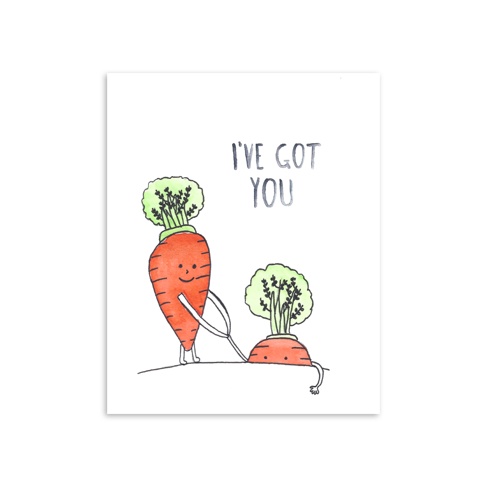 I've Got You Carrots Art Print [product type] - Hello Happiness Card Co