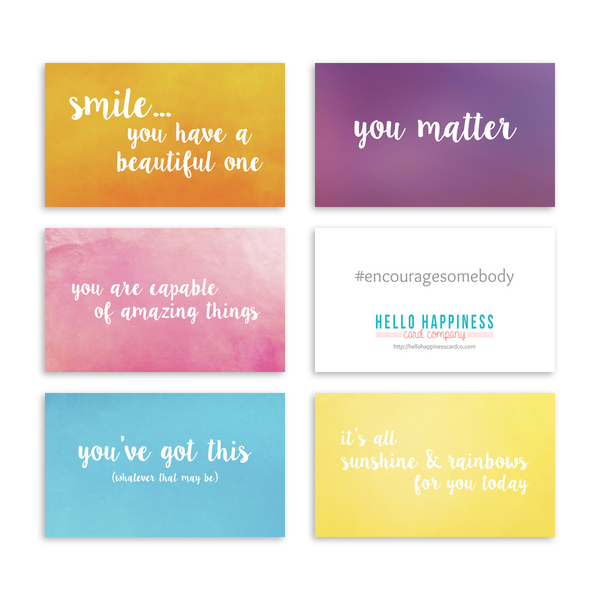 Mini Encouragement Cards - Bright I [product type] - Hello Happiness Card Co