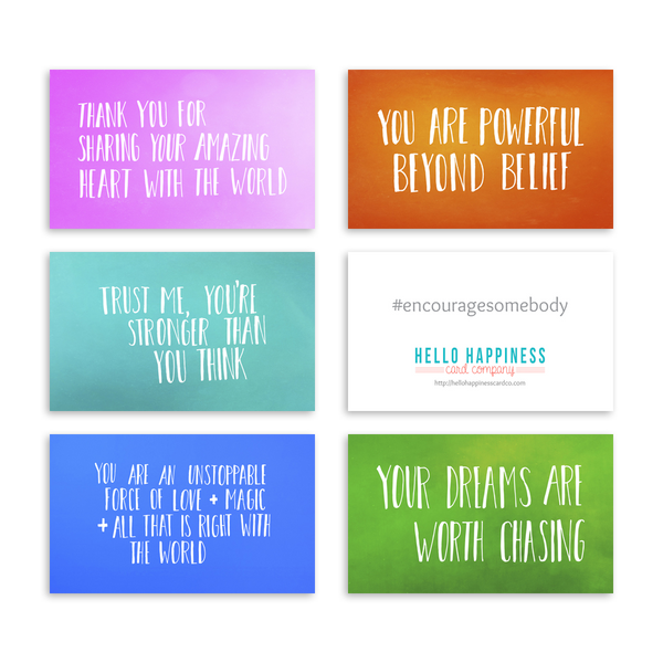 Mini Encouragement Cards - Bright II [product type] - Hello Happiness Card Co
