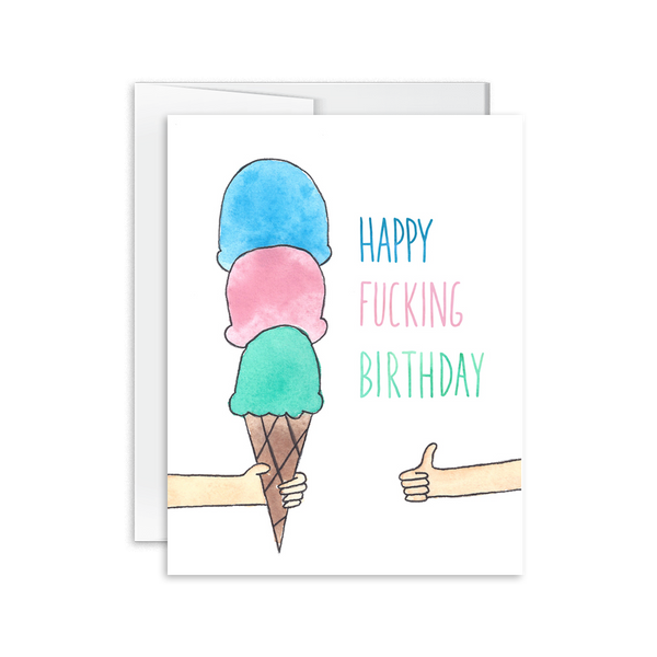 Happy Fucking Birthday Card [product type] - Hello Happiness Card Co