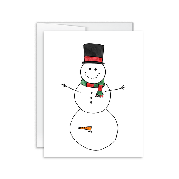 dirty snowman christmas card