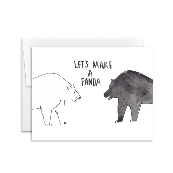Let's Make a Panda Card [product type] - Hello Happiness Card Co
