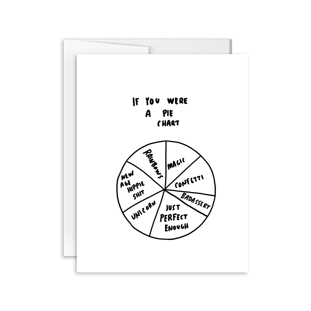 if you were a pie chart awesome greeting card