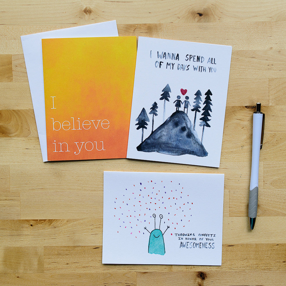 single card options from the hello happiness card co