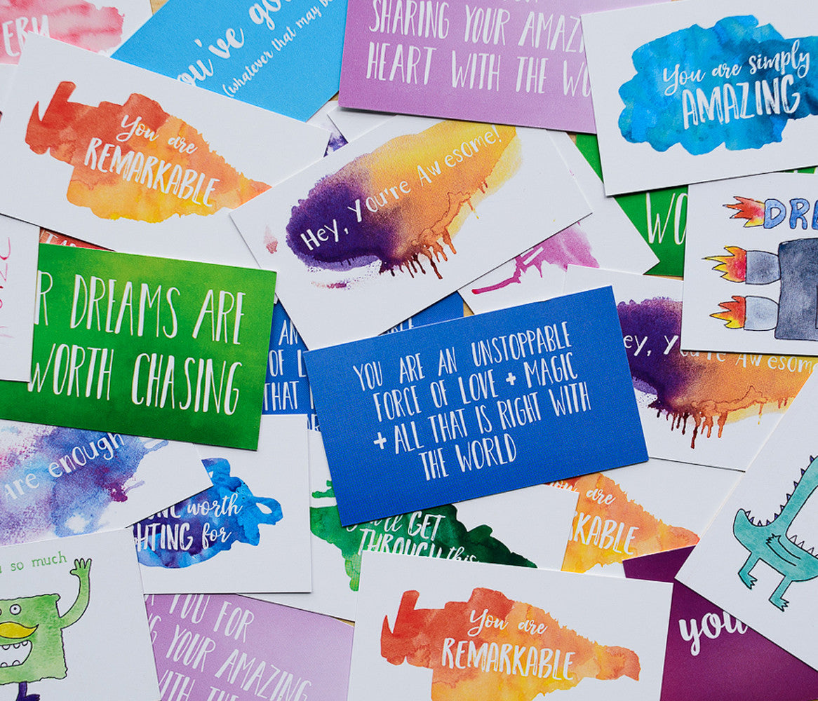 mini encouragement cards full of love and encouragement