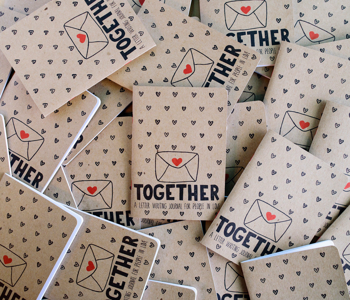 together journal a letter writing journal for people in love